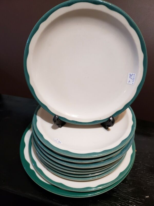 Set of 10  Syracuse China Glendale  Plates, Dinner Restaurant Ware
