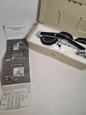 Dymo 1570 Vintage Chrome Office Label Maker 2 Ext Wheels And 1 Roll Label Tape