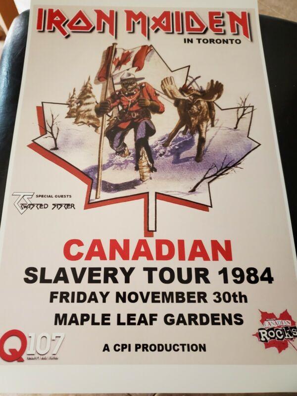 Iron Maiden Canadian Slavery Tour Poster