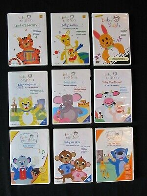 Lot of 9 Baby Einstein DVD Collection Mozart, Da Vinci MacDonald Noah Numbers