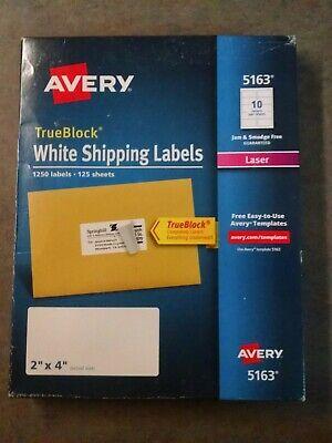 Avery Easy Peel Address Label - 2 Width X 4 Length Permanent 1250 Box