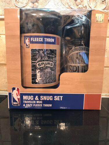 San Antonio Spurs Mug & Snug Set/Traveler Mug & Cozy Fleece