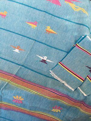 """Honduras Woven Tablecloth 76 x 54"""" Eight Napkins 13 x 11"""" Native Design"""