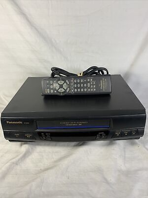 Panasonic Omnivision PV-9450 VCR 4-Head HiFi Stereo VHS Player Tested w/ Remote