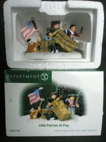 Department 56 - 2005 - New England Village Series Little Patriots At Play #57120