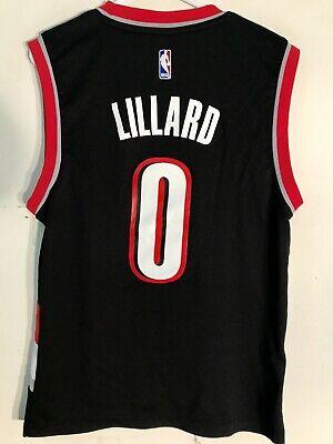 Adidas NBA Jersey Portland Trailblazers Damian Lillard Black sz S