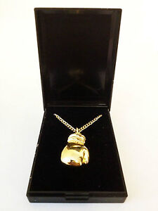 FREE AU POST! Gold Boxing Glove Pendant and Chain in Gift Box Beautiful Necklace