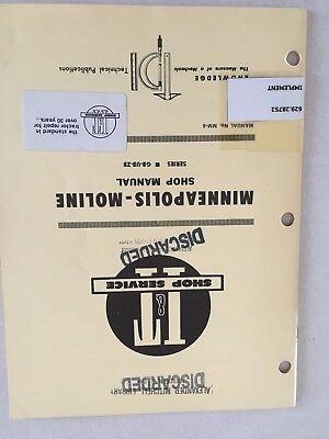Gb Ub Zb Vintage Minneapolis Moline Tractor It Shop Service Manual Gb Zb Mm-6