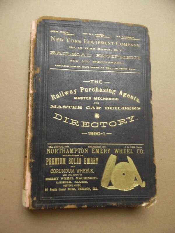 1890 Railway Purchasing Agents Co Master Mechanic Car Builder Directory Chicago
