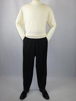 Knit Mock Neck Pullover (Mens Inserch Mock Neck Pullover Knit Soft Cotton Blend Sweater Winter 4308 Ivory)