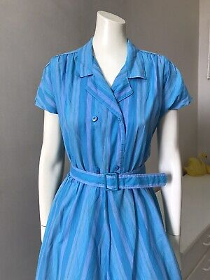 80s Dresses   Casual to Party Dresses Original Vintage 80s Dress , Chevron Stripes Full Skirt 80s Does 50s Retro Small $22.01 AT vintagedancer.com