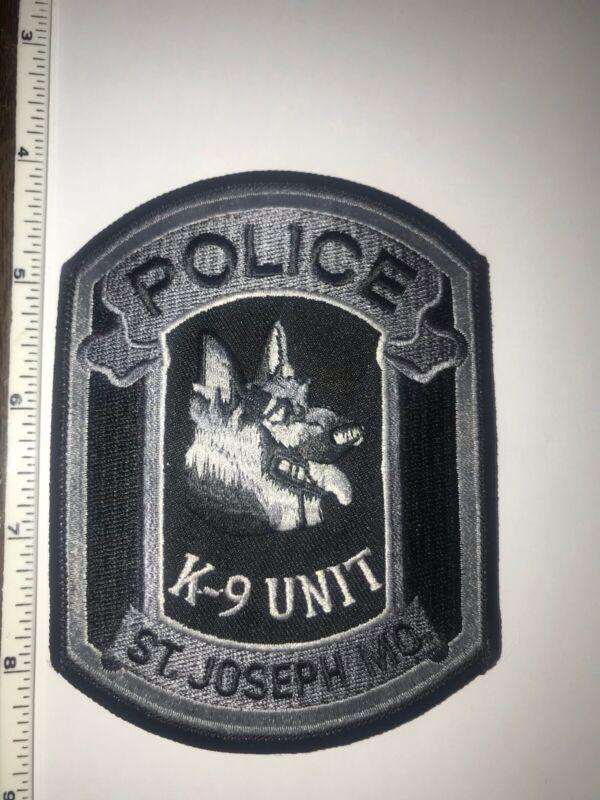 St Joseph Missouri K9 Unit Subdued Police Shoulder Patch New