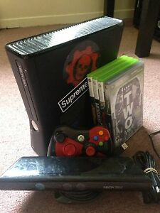 Xbox360 Slim 250gb, Kinect Sensor, 2 Controllers, and 6 Games!