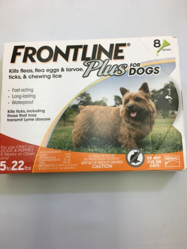 Frontline Plus Flea and Tick Treatment for Small Dogs (5-22 Pounds) 8-Months NEW