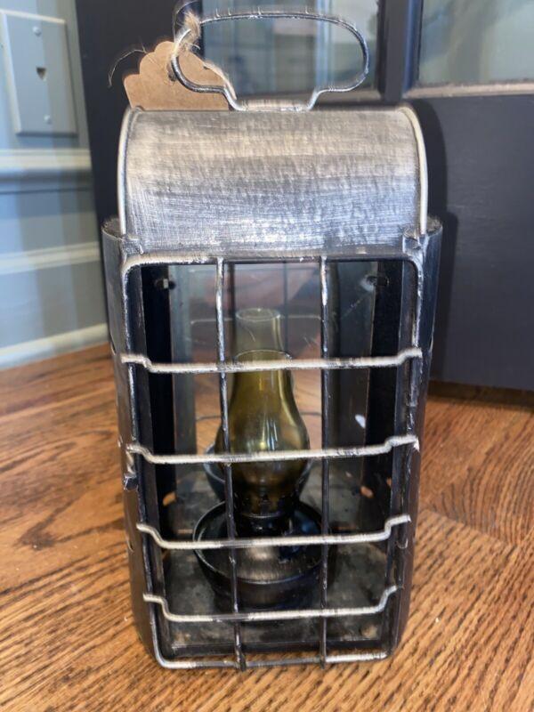 Vintage Oil Lamp Lantern Metal