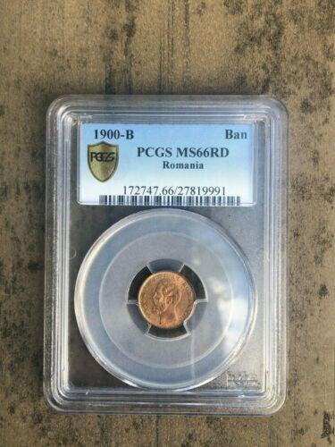 1900-B Romania Ban PCGS MS66RD Copper Coin KM# 26