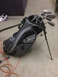 RH irons and bag