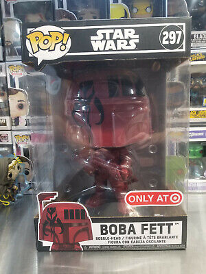Funko Pop! Star Wars Boba Fett #297 Red 10 Inch Target Exclusive w/Protector *NM