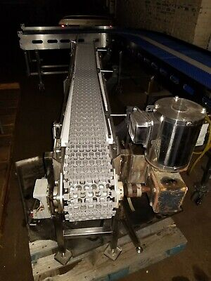 Stainless Steel 7 X 76 Washdown Conveyor With Plastic Belt