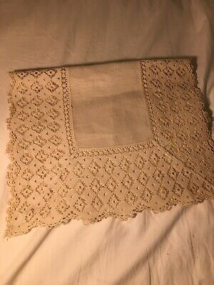 """Vintage Lace Crochet Table Runner 41 x 13"""""""