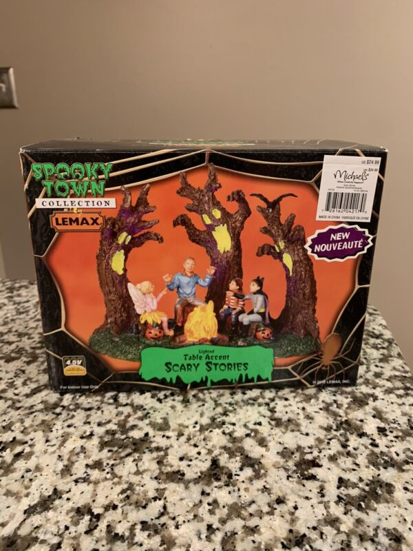 2010 LEMAX SPOOKY TOWN COLLECTION SCARY STORIES LIGHTED HALLOWEEN FIGURINE 04217