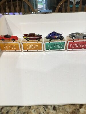 Hot Wheels Avon Exclusive Park N Plates Lot of 4