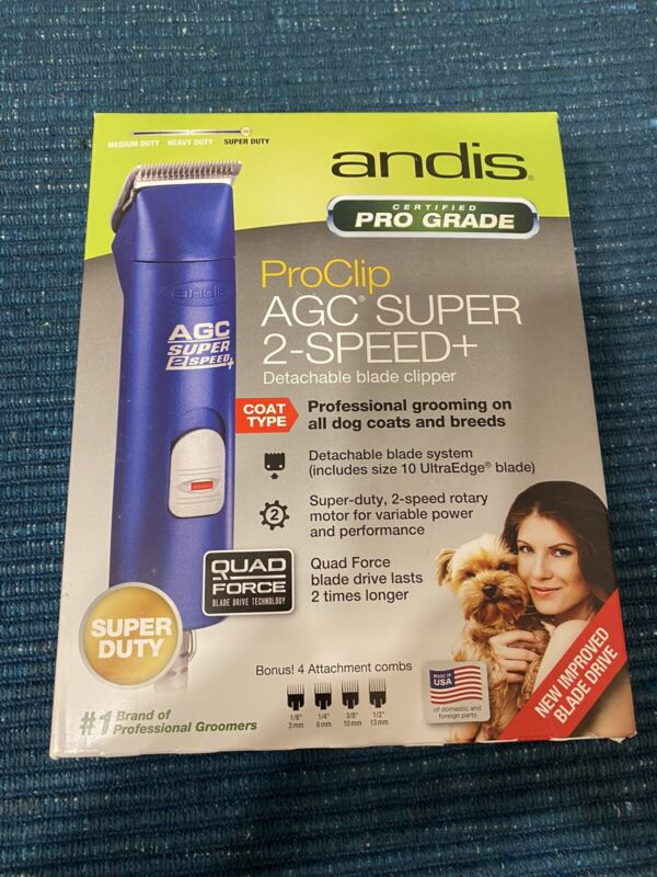 ANDIS AGC Super 2 Speed+ Clippers BLUE Dog - NEW!