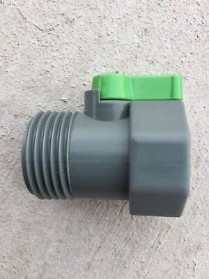 LOT OF 200 PVC Garden Hose Water Shut-Off Valve Heavy Duty Connector SALE