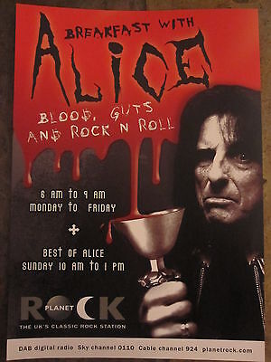 ALICE COOPER RADIO SHOW FLYER / THIN LIZZY/QUEENSRYCHE UK TOUR FLYER POSTER 2007