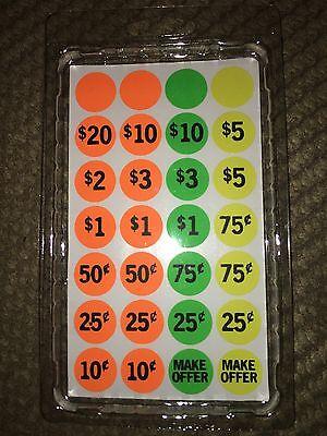 Price Tags Garage Sale Stickers Rummage Sale Flea Market Auction Retail Labels