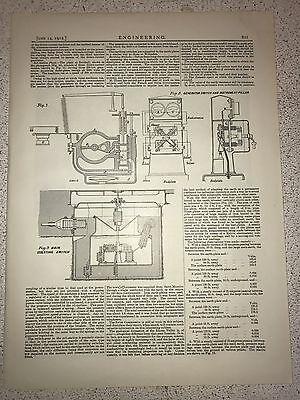 Generator Switch And Instrument Pillar: 1912 Engineering Magazine Print