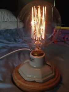Retro style light bulb lamp, bedside table lamp Chatswood Willoughby Area Preview
