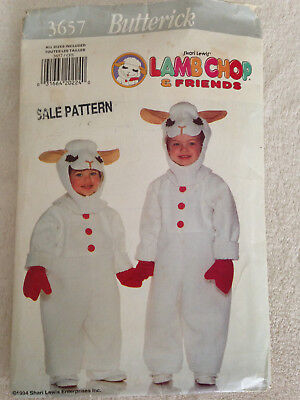 OOP B 3657 Shari Lewis LAMB CHOP costume pattern 2-6x CUT but unused - Lamb Chop Costume