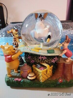 Disney Snow Globe Eeyore Winnie the Pooh Picnic Rumbly in my Tummy - SEE NOTE