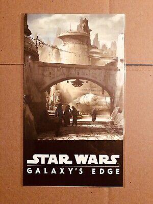 Star Wars Galaxys Edge Disneyland Promo Card Poster D23