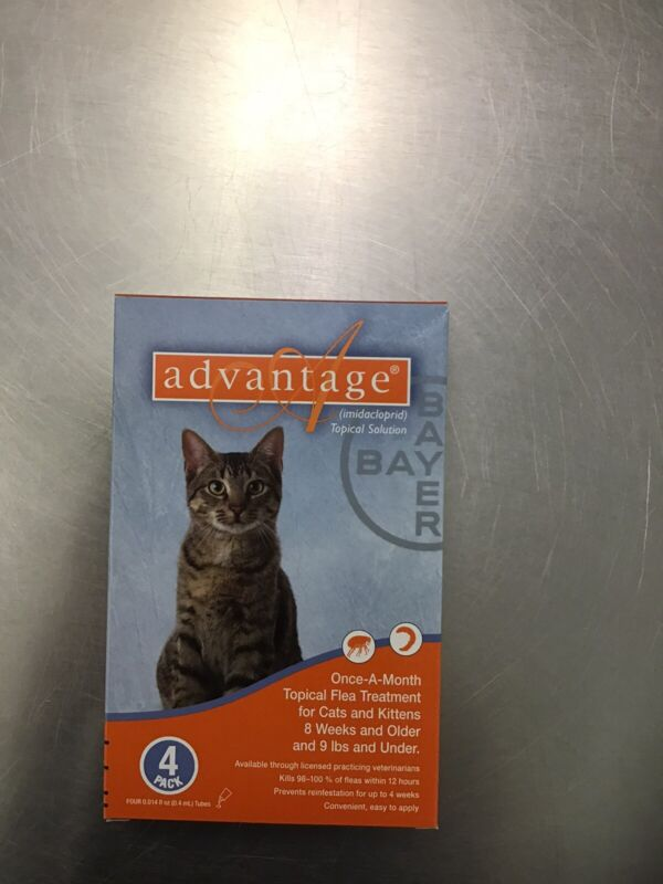 Advantage For Cats 9 Lbs And Under Lbs 4 Pack