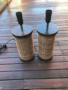 2 x Cane Lamp bases Buderim Maroochydore Area Preview