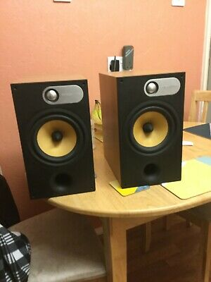 B&W 685 Loudspeaker Pair - Light Oak - Very Good Condition