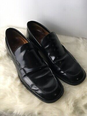 Very Vintage Gucci Black Leather Penny Loafer US Size 12 D