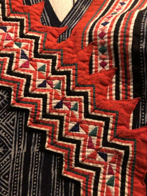 Handmade Hmong Indigo Batik Dress