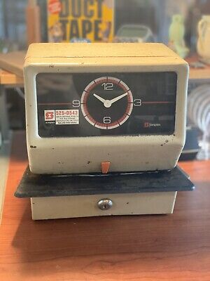 Vintage Simplex Time Punch Clock Industrial Workplace
