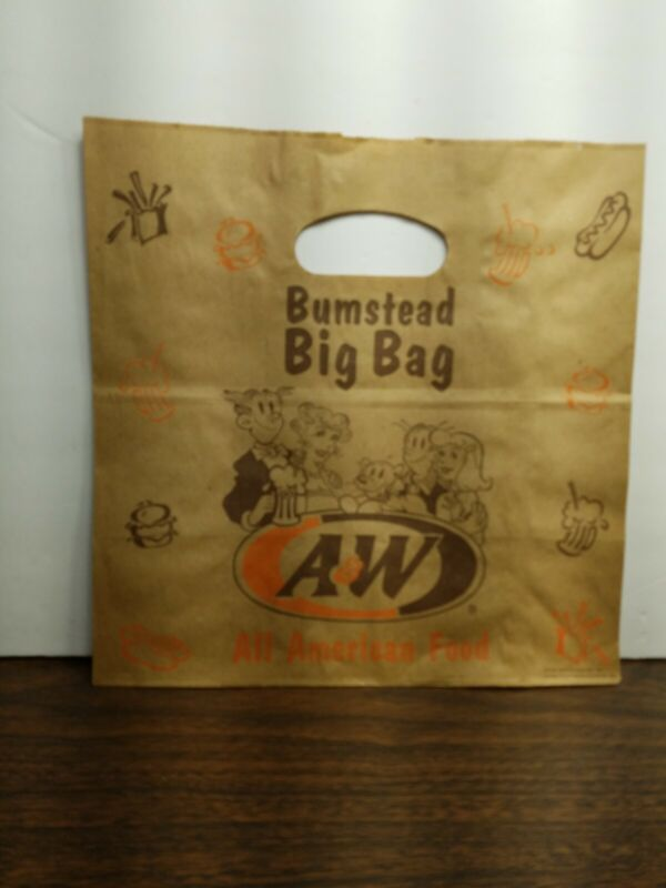 A&W root beer collectibles carry out bumstead big bag all American food