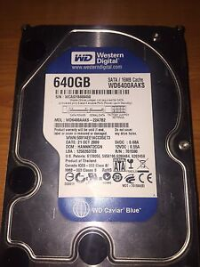 640GB HDD WD Blue South Guildford Swan Area Preview