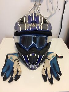 Helmet, Goggles, and Gloves