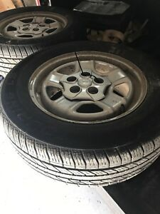 4 new 5 bolt jeep rims/tires