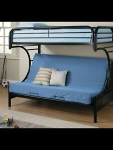 Metal bunk bed twin over double - new condition
