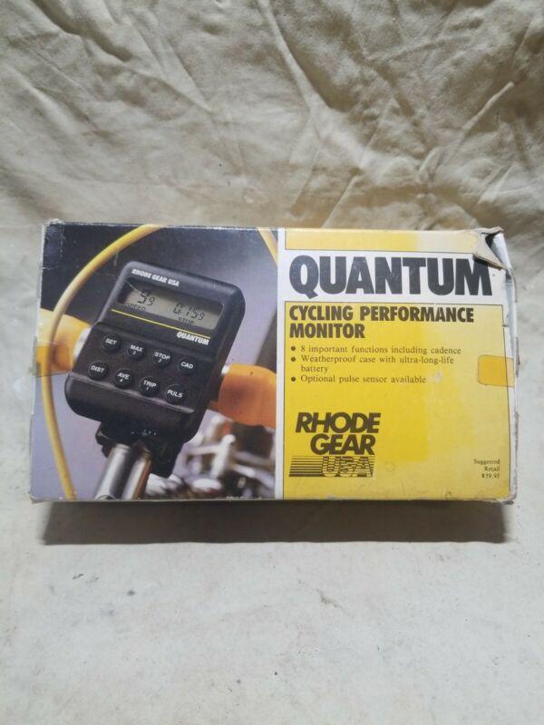 Rhode Gear Usa Quantum Cycling Performance Monitor W/ Box USED