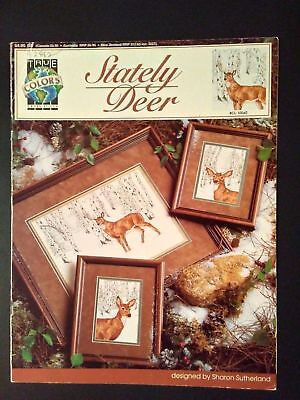 Striking STATELY DEER Counted Cross Stitch -