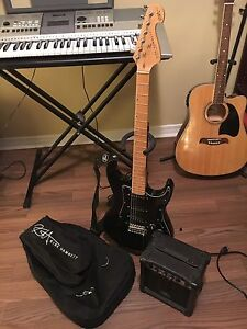 Kirk Hammett Electric Guitar with Amp, Carrying Case, and Stand