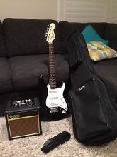 Fender Squier Mini Srat & Vox Mini Rhythm 5 Amp & more Heathcote Sutherland Area Preview
